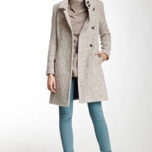Tahari Izzy Asymmetrical Belted Coat